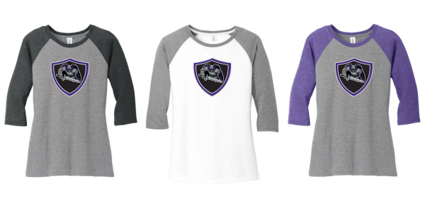 AHU Jr Knights Ladies Baseball tee