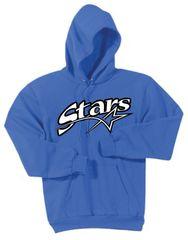Stars Baseball Unisex Pullover Screen Print Hoodie ADULT HANES FLEECE