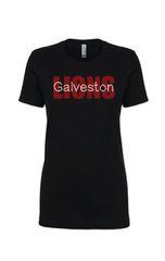 Galveston Ladies Fit tee Galveseton Lions Bling Tee