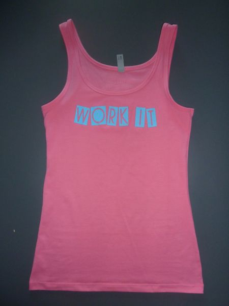 "Fitness ""Work It"" Cotton/Poly/Spandex Tank"