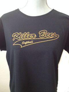 Killer Bees Rhinestone Ladies tee