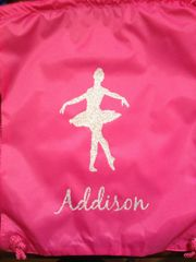 Custom Ballet Cinch Back Pack