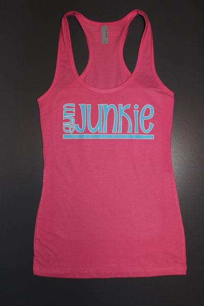 """Fitness """"Gym Junkie"""" Cotton/Poly/Spandex RazorbackTank"""