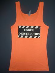 "Fitness ""Under Construction"" Cotton/Poly/Spandex Tank"