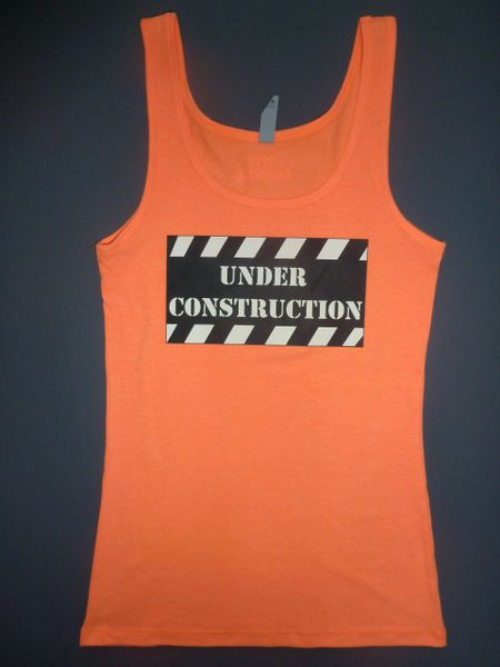 """Fitness """"Under Construction"""" Cotton/Poly/Spandex Tank"""