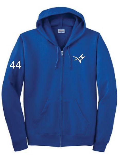 Stars Baseball Unisex Embroidered Zip Hoodie ADULT SPORT TEK DRY WICK