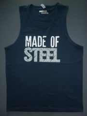 """Fitness """"Made of Steel"""" cotton tank"""