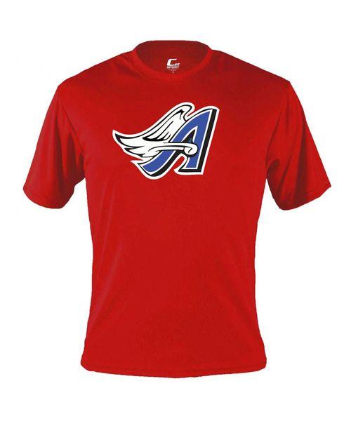 Angels Softball Men's Performance Tee with full logo print