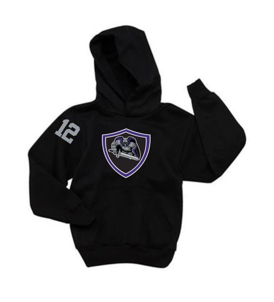 AHU Jr Knight Youth Hooded Pullover Sweatshirt