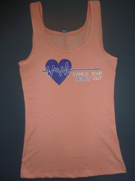 """Fitness """"Dance Your Heart Out"""" Cotton/Poly/Spandex Tank"""