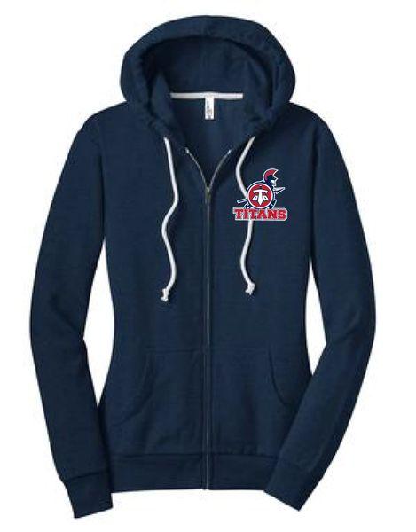 Titans Ladies' Junior Fit Embroidered Zip Hoodie