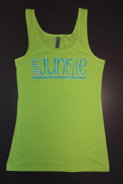 "Fitness ""Gym Junkie"" Cotton/Poly/Spandex Tank"
