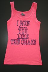 "Fitness ""I Run because..."" Cotton/Poly/Spandex Tank"