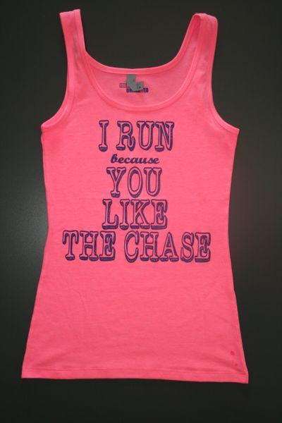 "Fitness ""I Run because..."" Cotton/Poly/Spandex Tank"