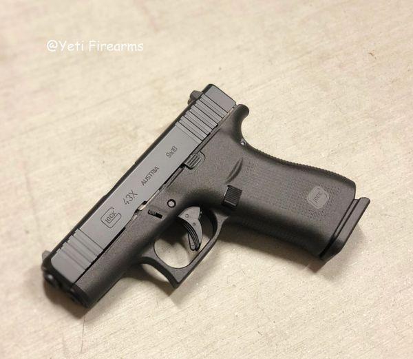 Image result for glock 43x black slide