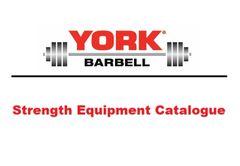 YORK BARBELL HOME STRENGTH EQUIPMENT CATALOGUE