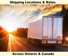 SHIPPING LOCATIONS & RATES ACROSS ONTARIO & CANADA FOR TRAMPOLINES