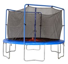 13' Foot Round Trampoline & Enclosure Safety Net, Combo With Removable Flash Zone 6 Legs On Base,10 yr Warranty