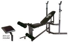 YORK BARBELL 9300 ENFORCER BENCH, ARM CURL & LEG DEVELOPER ATTACHMENT INCLUDED ITEM #4210
