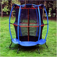 "55"" TRAMPOLINE & SAFETY NET ENCLOSURE COMBO, GOOD FOR INDOORS OR OUTDOORS Good, MY FIRST TRAMPOLINE"