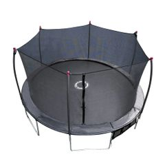 17' x 15' Foot Oval Trampoline & Enclosure Safety Net,Industrial Grade ,Comes With Electronic Laser Shooter Game,10 yr Warranty