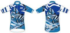 ASSINIBOINE IN BLUE Men's Full Zip Short Sleeve Cycling Jersey