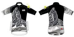 Black Tusk Men's Full Zip short sleeve cycling jersey reverse Black version
