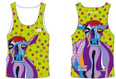Lavender Lucy Ladies Tank lime green