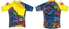 St Nicks Peak Mens full zip short sleeve cycling jersey