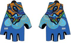 Sisters In Blue padded cycling glove