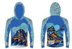 Sisters in Blue Ladies Full Zip Long Sleeve Windjacket