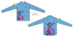 Lavender Lucy Blue Ladies quarter zip long sleeve