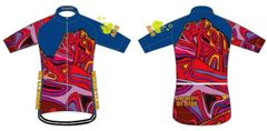 RAINBOW Men's Full Zip Short Sleeve Cycling Jersey.