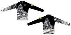 Black Tusk Men's Quarter Zip Long Sleeve Jersey REVERSE black and white