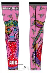 Priscilla Prefers Pink arm warmers. Summer weight (P)