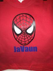 Custom Spiderman Shirt with Child's Name