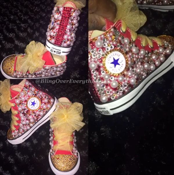 7b683e337b1d Children - All Bling Converse Chuck Taylors - Any Theme
