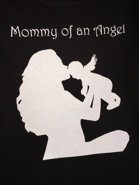 Mommy Of An Angel Bling Shirt Bling Over Everything