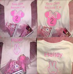Keep Calm....I'm 2 Minnie / Mickey Mouse