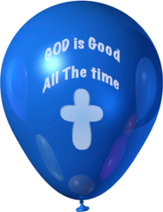 (b) God is Good Balloons - Packs of 50