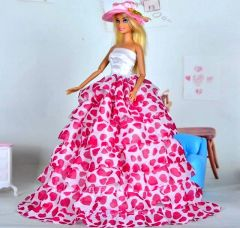 Barbie Gown-Hat-Shoes