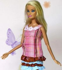 Sweet Barbie Dress-Modest Barbie Clothes-Pink Shoes