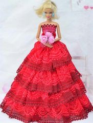 Barbie Gown-Flowers-Barbie Shoes