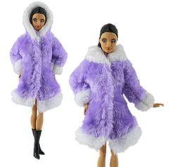 Barbie Fur Coat-Hood-Modest Barbie Clothes