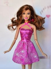 Pink Sparkly Barbie Dress-Modest Barbie Clothes-Shoes