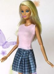 Barbie Shirt And Skirt Set-Modest Barbie Clothes-Shoes