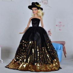 Barbie Ballgown-Satin Hat-Shoes