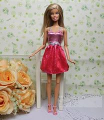 Glittery Barbie Dress-Modest Barbie Clothes-Shoes