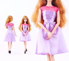 Lilac Barbie Dress-Modest Barbie Clothes-Barbie Shoes