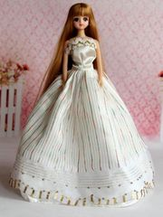 Elegant Modest Barbie Gown-Shoes
